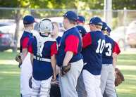 baseball team huddle
